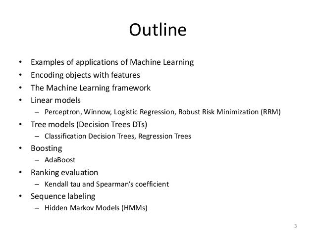 Machine Learning With Applications In Categorization