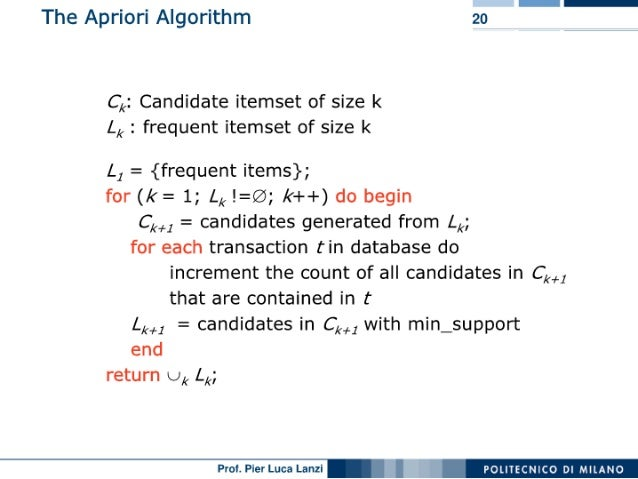 Machine Learning and Data Mining: 04 Association Rule Mining