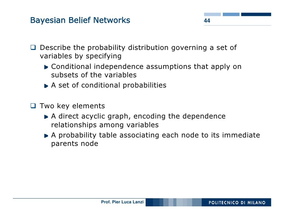 Bayesian Belief Networks                       44      Describe the probability distribution governing a set of   variable...