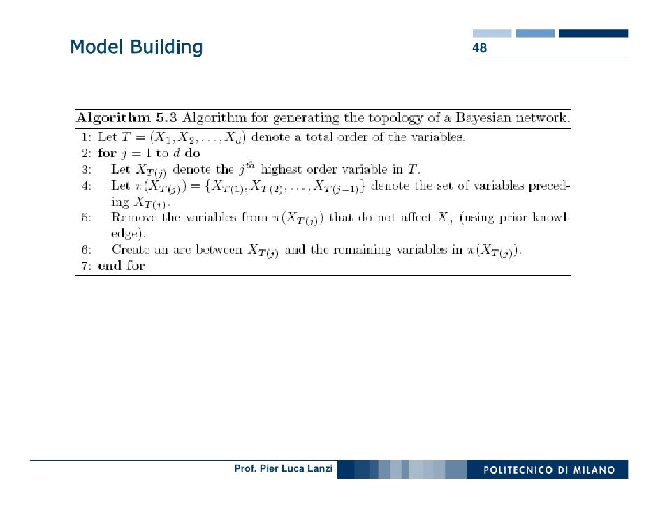 Model Building                           48                      Prof. Pier Luca Lanzi