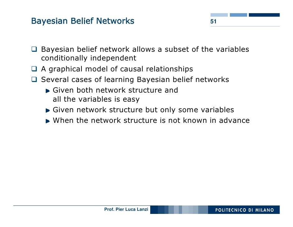 Bayesian Belief Networks                       51      Bayesian belief network allows a subset of the variables   conditio...
