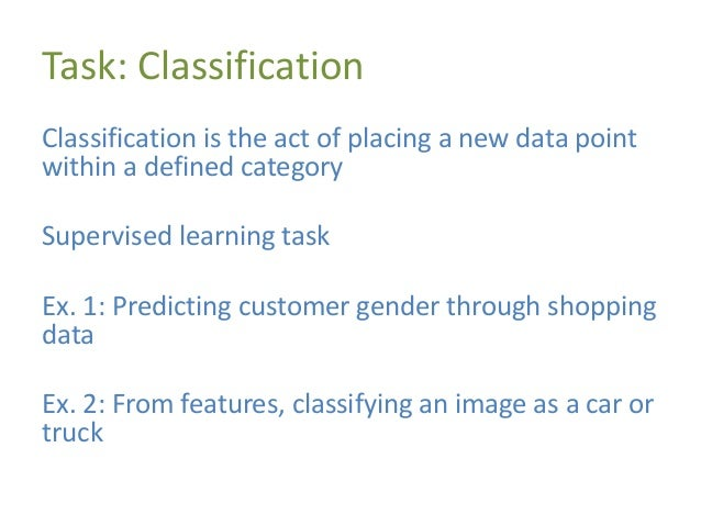 Linear Classification Linear classification uses a linear combination of features to classify objects
