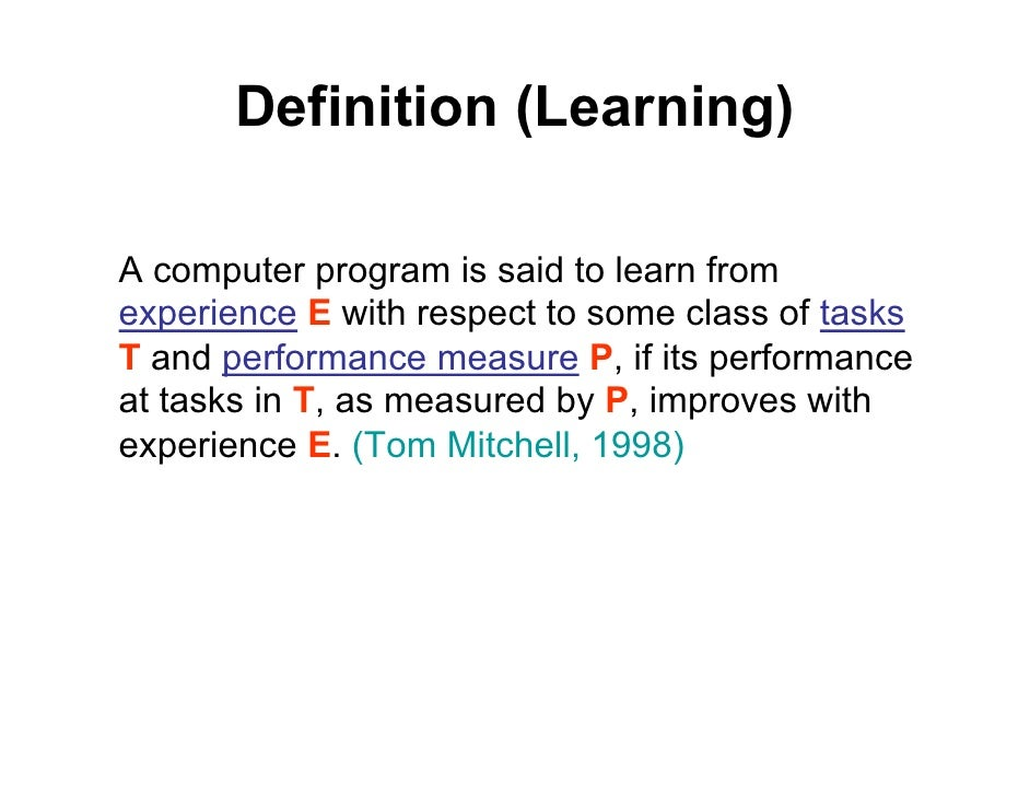 Machine Learning Lecture 1