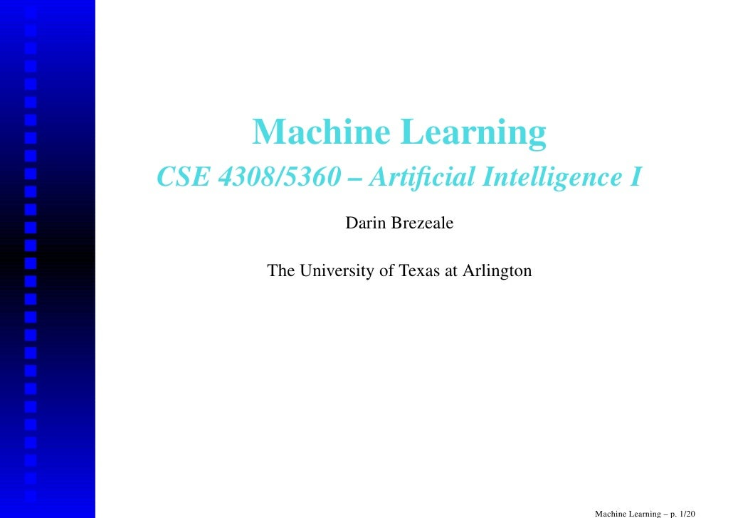 Machine learning thesis