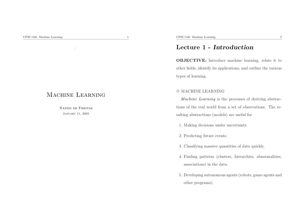 CPSC-540: Machine Learning                      1   CPSC-540: Machine Learning                                    2       ...