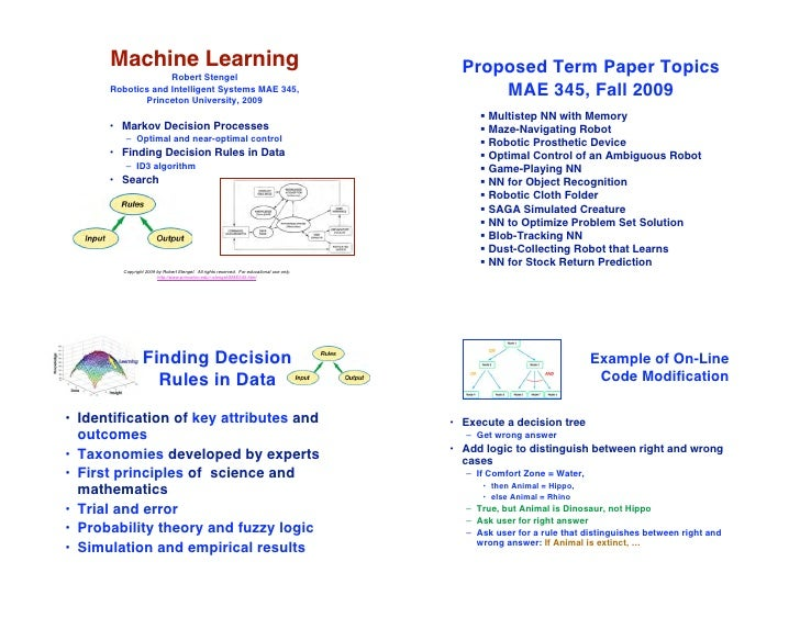 Machine Learning                                                                       Proposed Term Paper Topics         ...