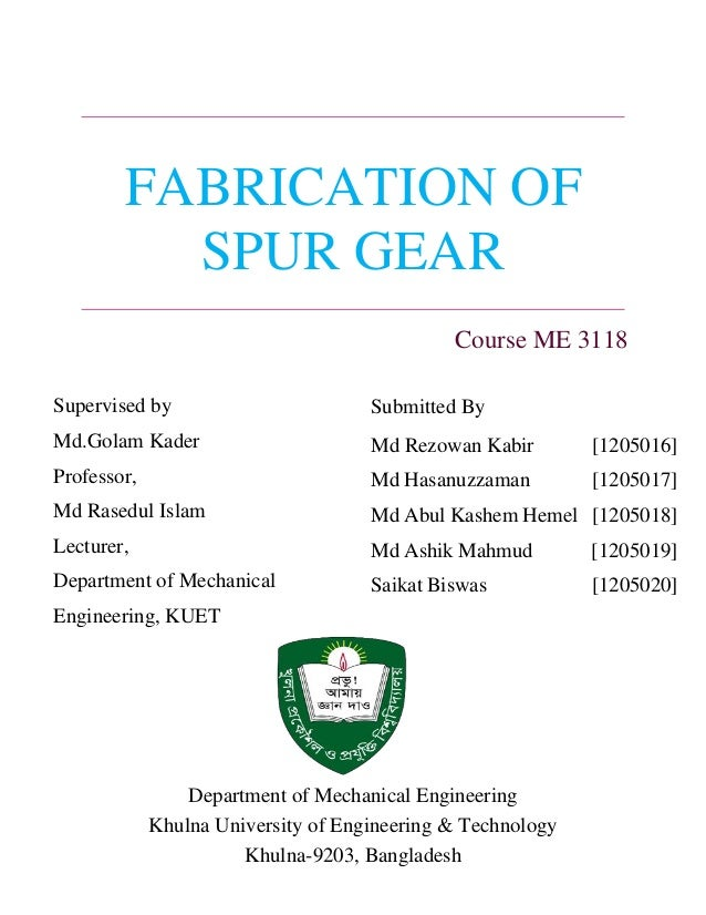 spur gear milling lab manual iit