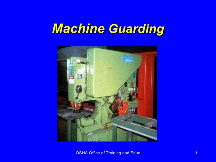 machine guarding osha