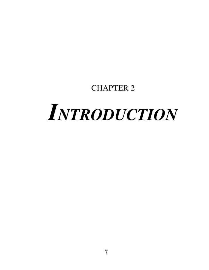 CHAPTER 2INTRODUCTION