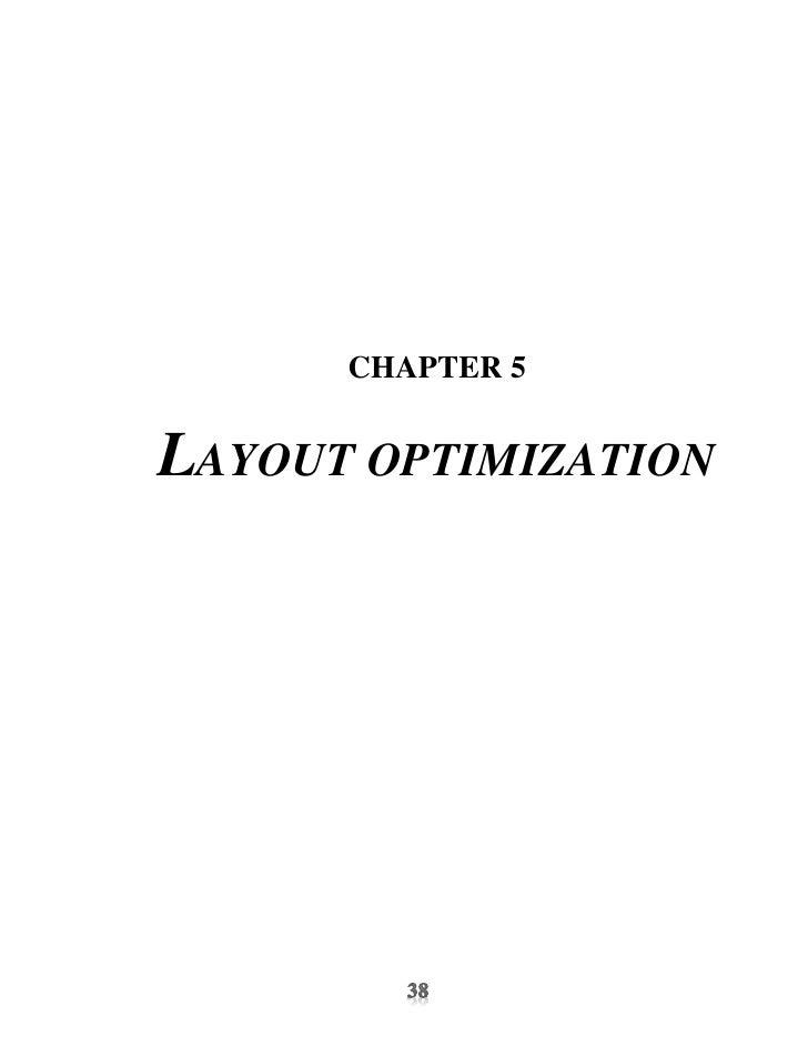 CHAPTER 5LAYOUT OPTIMIZATION