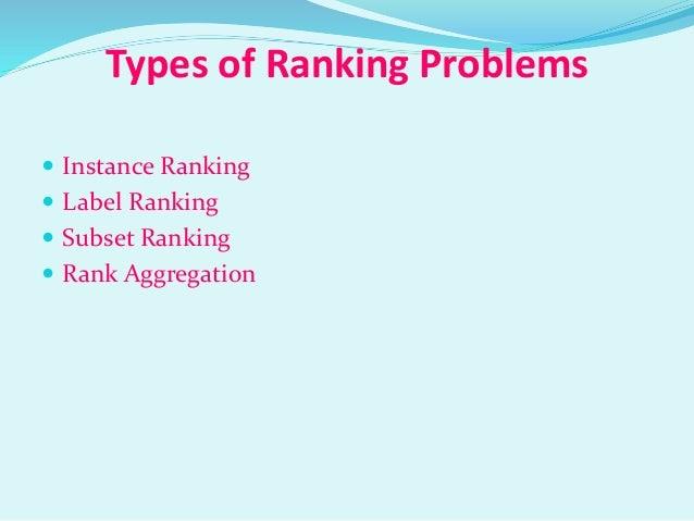 machine learning ranking