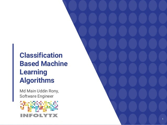 classification machine learning algorithms