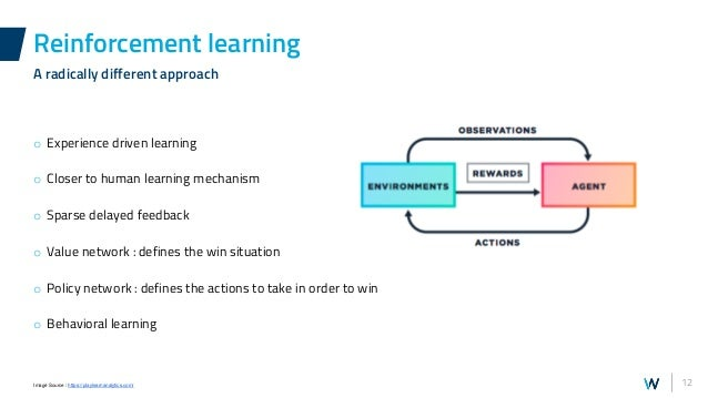 12 o Experience driven learning o Closer to human learning mechanism o Sparse delayed feedback o Value network : defines t...