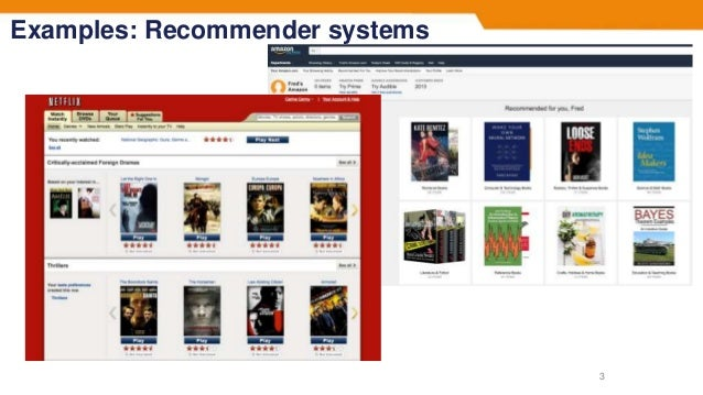 Examples: Recommender systems 3