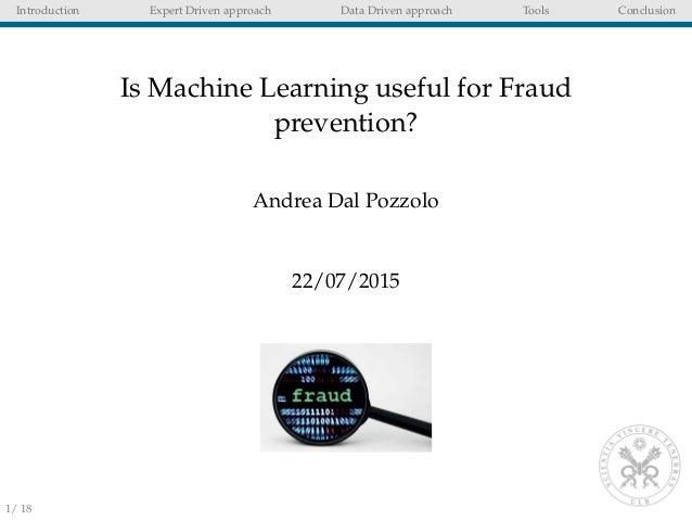 fraud machine learning