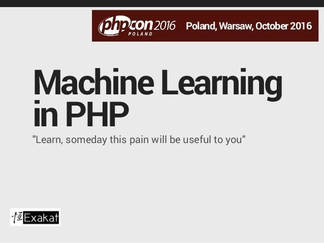 php machine learning
