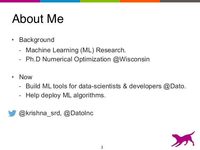 Machine learning in production Slide 2