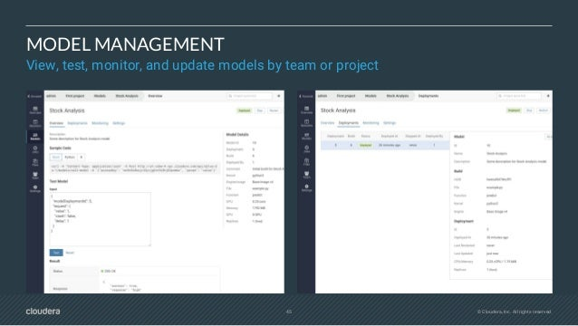 47 CLOUDERA FAST FORWARD LABS ADVISING & RESEARCH ML APPLICATION DEVELOPMENT ML STRATEGY ENGAGEMENT ML application strateg...