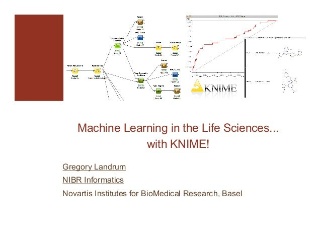 Machine Learning in the Life Sciences... with KNIME! Gregory Landrum NIBR Informatics Novartis Institutes for BioMedical R...