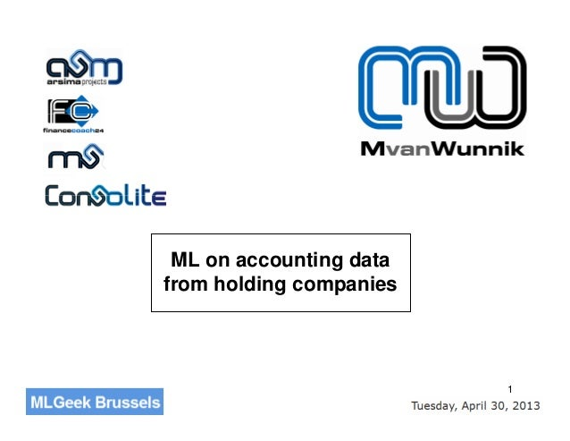 1ML on accounting datafrom holding companies