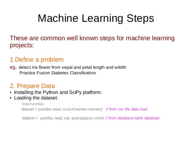 Quick Machine learning projects steps in 5 mins