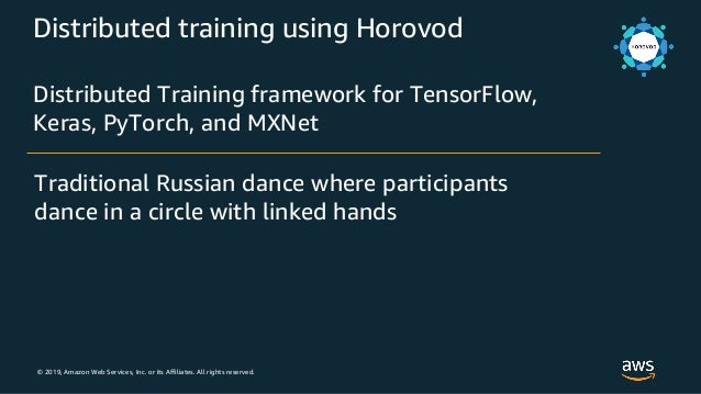 © 2019, Amazon Web Services, Inc. or its Affiliates. All rights reserved. Distributed training using Horovod Distributed T...