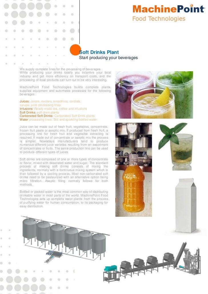 Soft Drinks Plant                                            Start producing ...