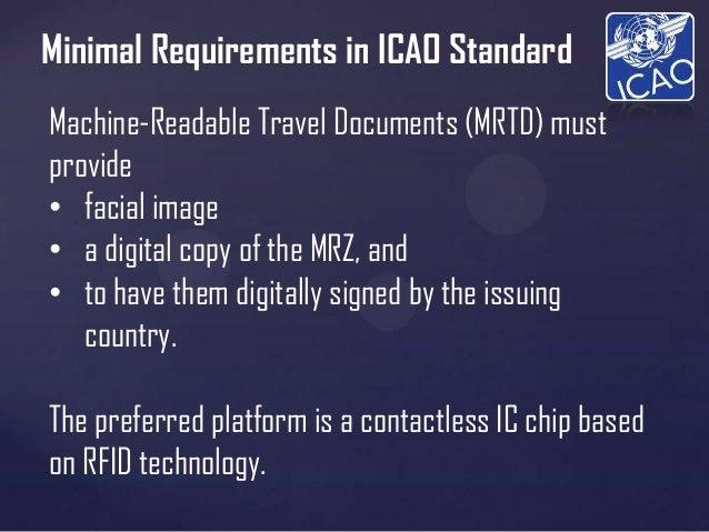 Machine Readable Travel Documents (MRTD) - Biometric Passport