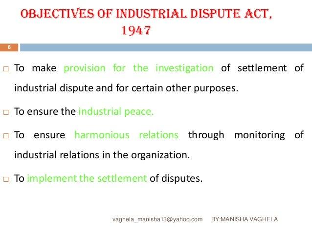 What Is an Industrial Dispute?