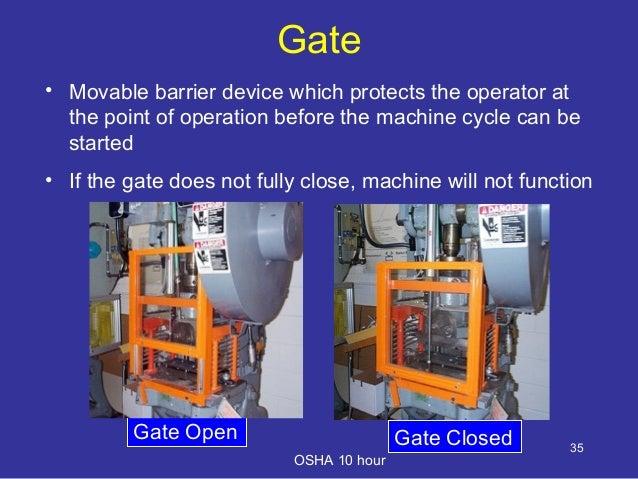 Machinery Safety Training By OSHA slideshare - 웹