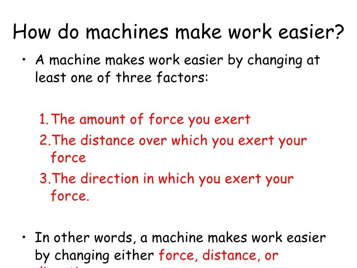 How Does A Pulley Make Work Easier : Machines