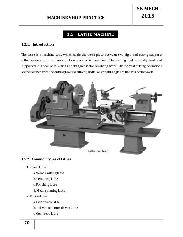 Machine Shop Notes Pdf