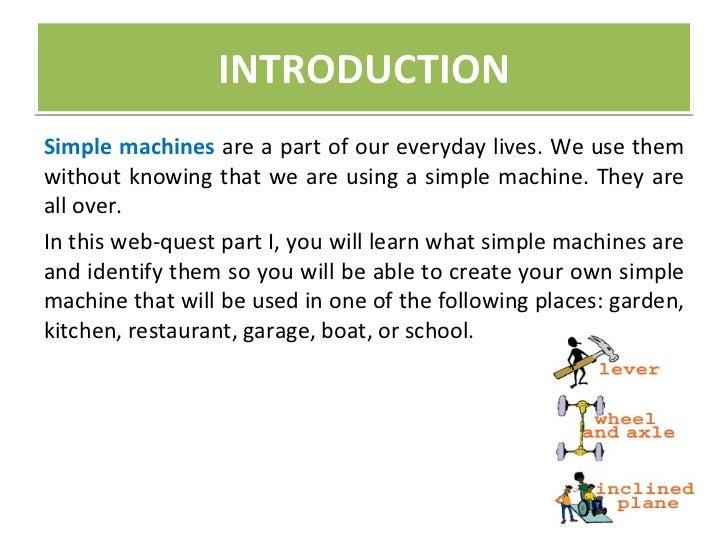 simple machine webquest