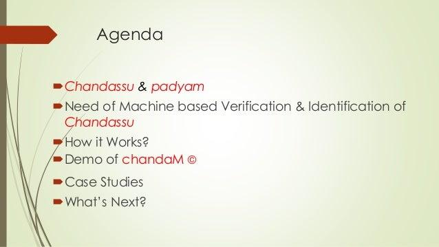 Machine verification and identification of telugu metrical poetry 1.1 Slide 2