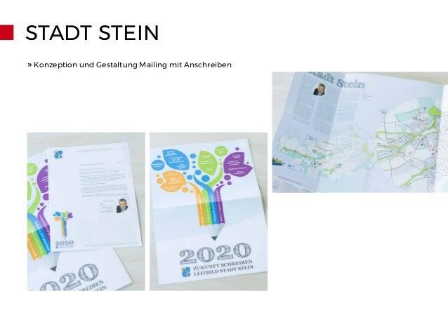 STADT STEIN » Konzeption und Gestaltung Mailing mit Anschreiben