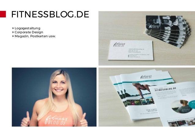 FITNESSBLOG.DE » Logogestaltung » Corporate Design » Magazin, Postkarten usw.