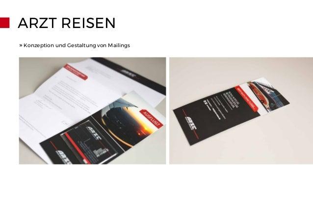 ARZT REISEN » Konzeption und Gestaltung von Mailings