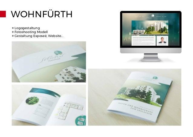 WOHNFÜRTH » Logogestaltung » Fotoshooting Modell » Gestaltung Exposeé, Website...