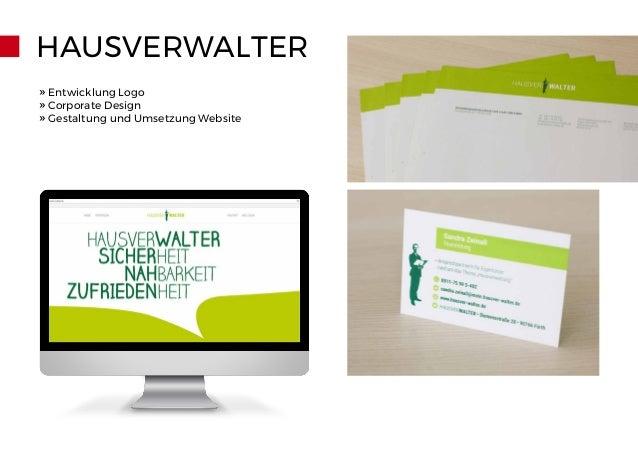 HAUSVERWALTER » Entwicklung Logo » Corporate Design » Gestaltung und Umsetzung Website