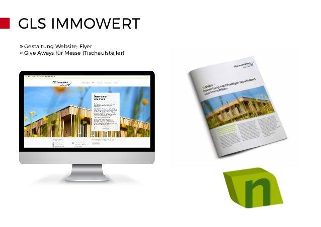 GLS IMMOWERT Breite: 30 cm Höhe ca. 18 cm Tiefe: 8 cm Visulisierung: » Gestaltung Website, Flyer » Give Aways für Messe (T...