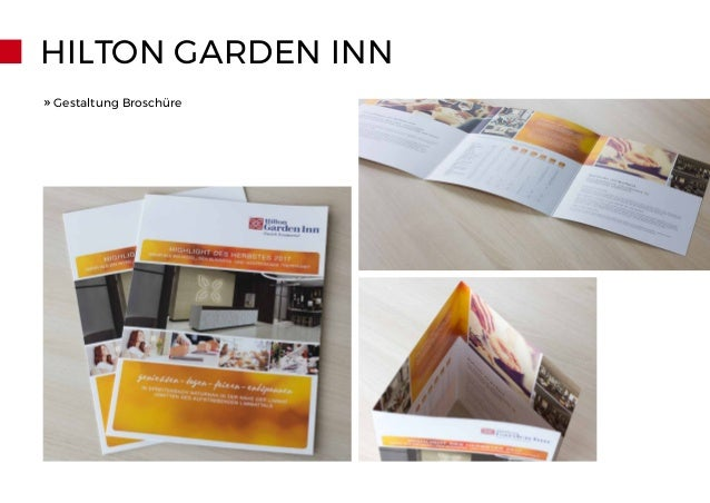 HILTON GARDEN INN » Gestaltung Broschüre