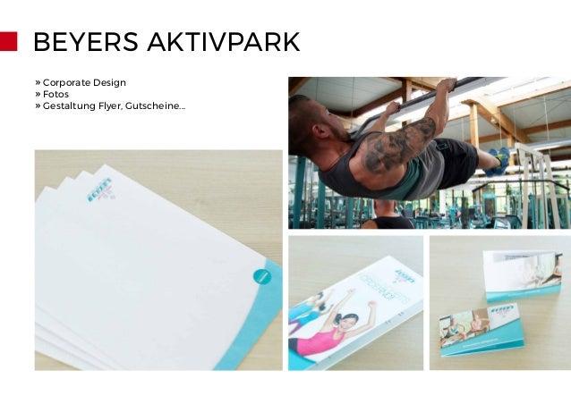 BEYERS AKTIVPARK » Corporate Design » Fotos » Gestaltung Flyer, Gutscheine...