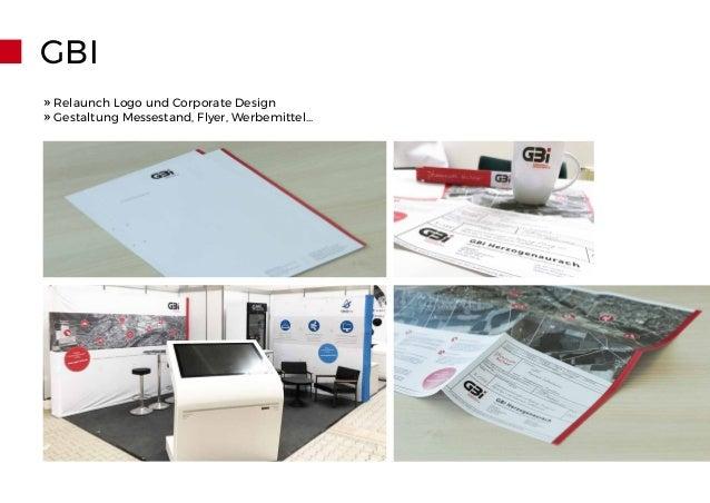GBI » Relaunch Logo und Corporate Design » Gestaltung Messestand, Flyer, Werbemittel...