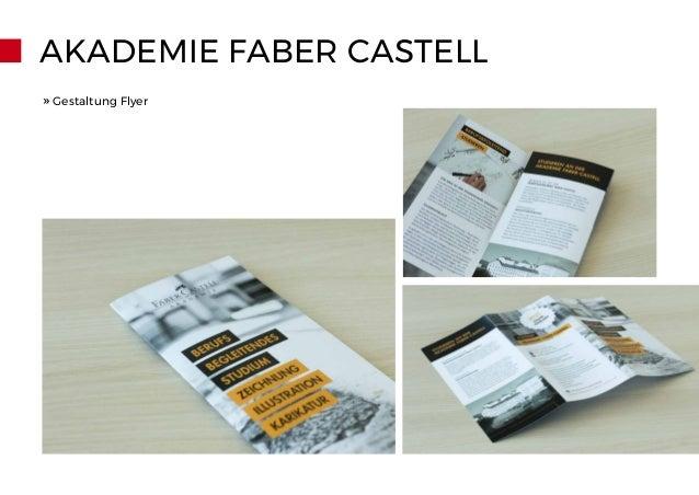 AKADEMIE FABER CASTELL » Gestaltung Flyer
