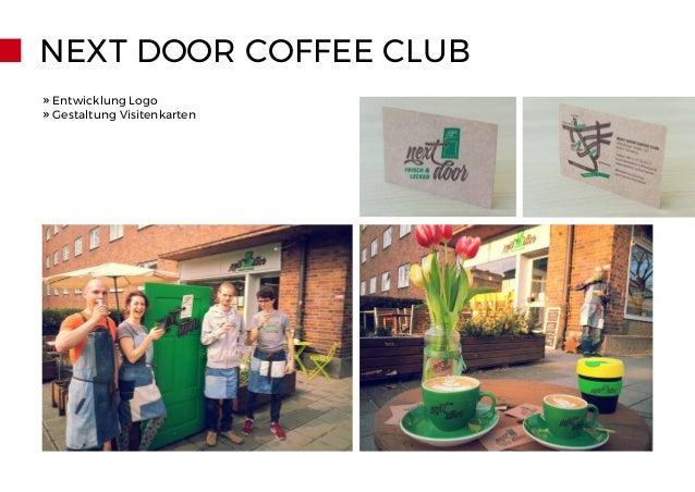 NEXT DOOR COFFEE CLUB » Entwicklung Logo » Gestaltung Visitenkarten