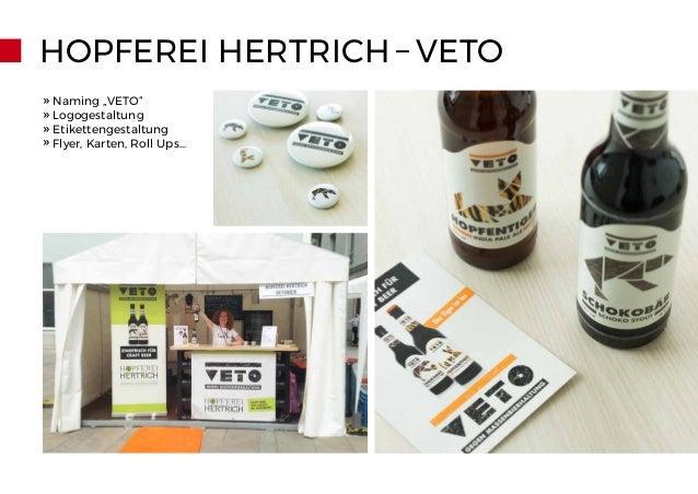 "HOPFEREI HERTRICH – VETO » Naming ""VETO"" » Logogestaltung » Etikettengestaltung » Flyer, Karten, Roll Ups..."