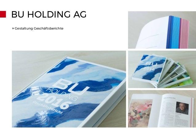 BU HOLDING AG » Gestaltung Geschäftsberichte