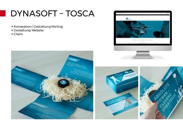 DYNASOFT – TOSCA » Konzeption/Gestaltung Mailing » Gestaltung Website » Claim