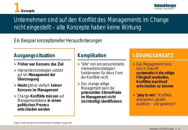 1       KonzepteUnternehmen sind auf den Konflikt des Managements im Changenicht eingestellt – alte Konzepte haben keine W...
