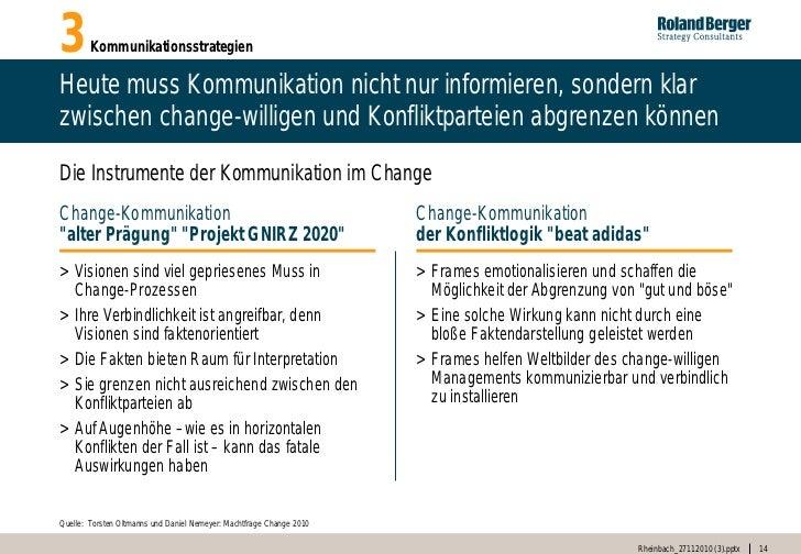 3       KommunikationsstrategienHeute muss Kommunikation nicht nur informieren, sondern klarzwischen change-willigen und K...